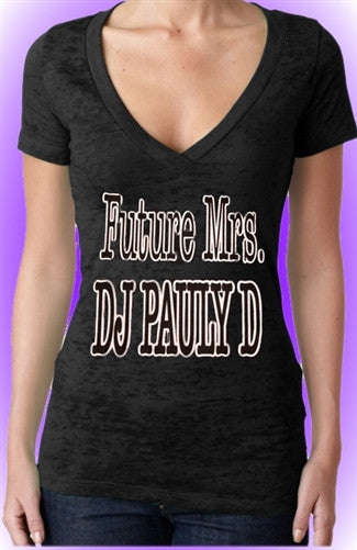Future Mrs. DJ Pauly D Burnout V-Neck Women's