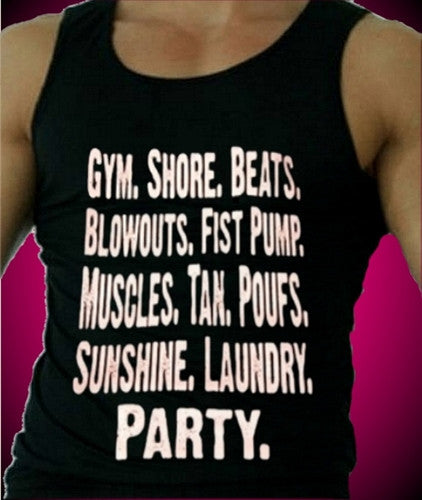 Everything it takes to become a Guido.  Men's Tank Top