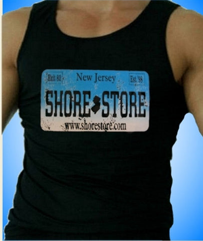 Shore Store License Plate Aqua-Distressed Men's Tank Top