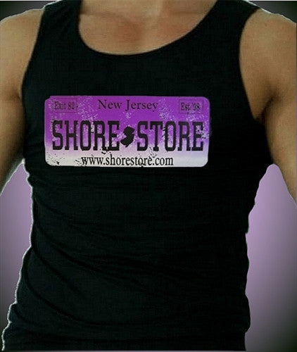 Shore Store License Plate Purple Distressed Men's Tank Top