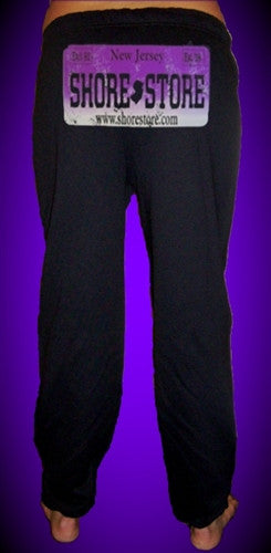 Shore Store License Plate Purple Distressed   Sweatpants