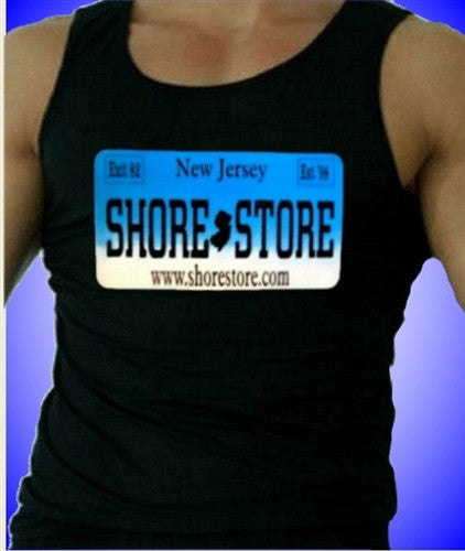 Shore Store License Plate Aqua    Men's Tank Top 385