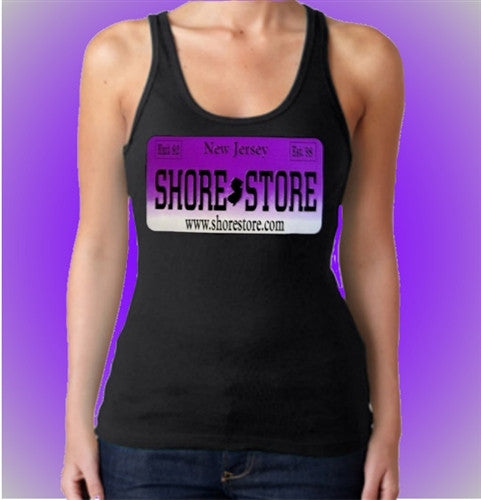 Shore Store License Plate Purple  Women's Tank Top