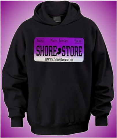 Shore Store License Plate Purple    Hoodie