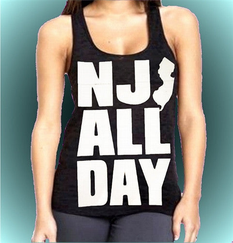 NJ All Day Burnout Tank Top Women's (Dark Purple Shown)