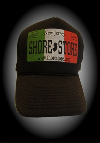 Shore Store License Plate Hat-Italian Decal. One Size
