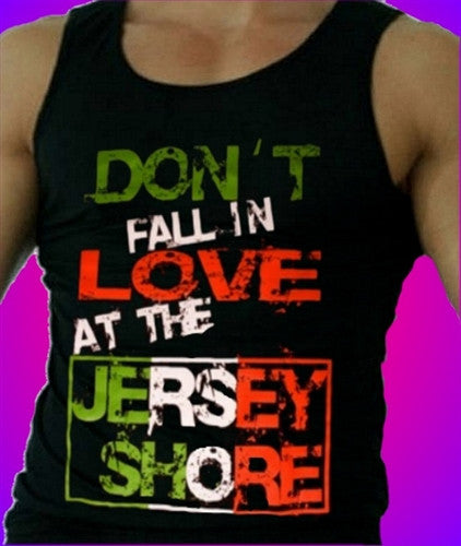 Don't Fall in Love at the Jersey Shore Tank Top Men's