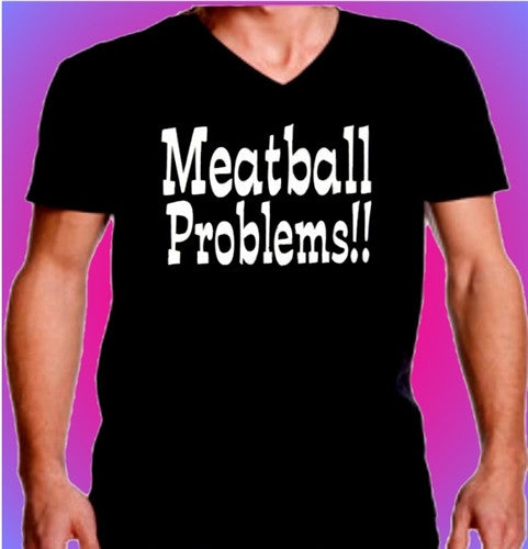 Meatball Problems!! V-Neck