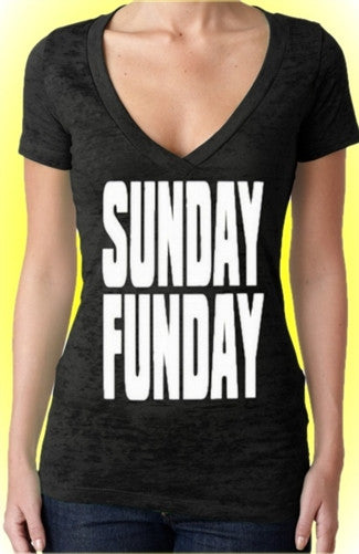 Sunday Funday Burnout V-Neck Women's
