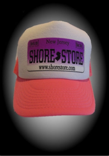 Shore Store Licence Plate Hat-Purple Decal