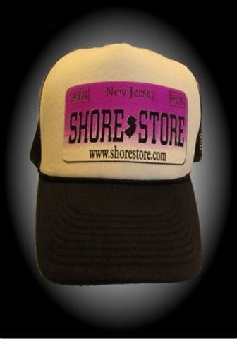 Shore Store License Plate Hat-Purple Decal