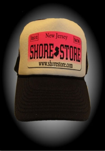 Shore Store License Plate Hat-Pink Decal