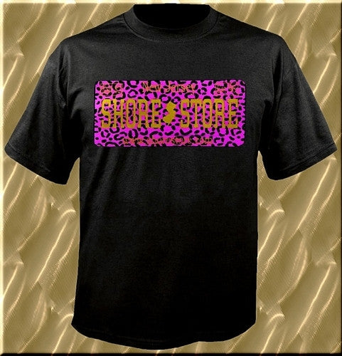 Purple Leopard License Plate T-Shirt