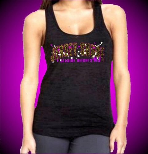 Jersey Shore Leopard Arch Burnout Tank Top