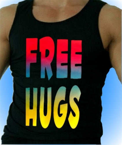 Free Hugs Neon Tank Top Men's
