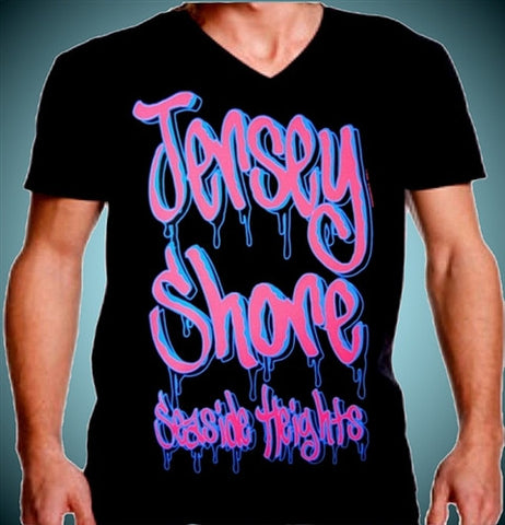 Jersey Shore Tag Art V-Neck Men's