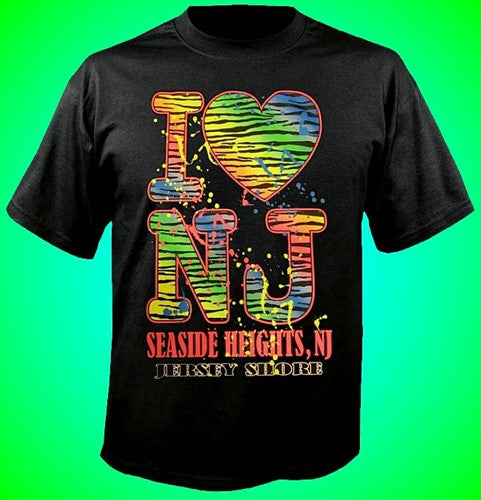 I Hart NJ Neon Tiger T-Shirt