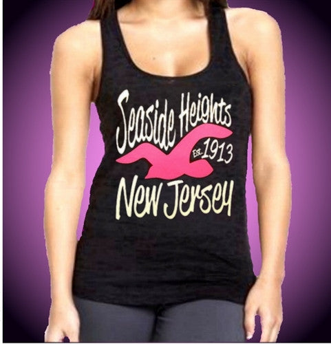Seaside Heights 1913 Seagull Burnout Tank Top W 471
