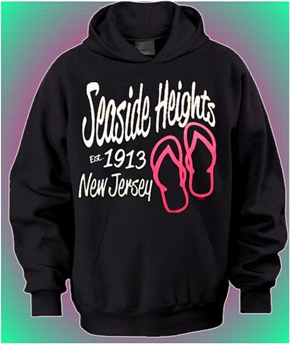 Seaside Heights 1913 Flip Flops Hoodie 474