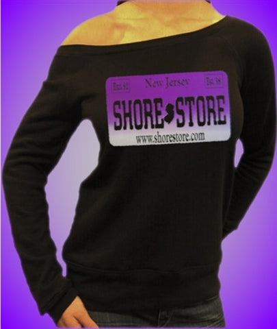 Shore Store Purple License Plate