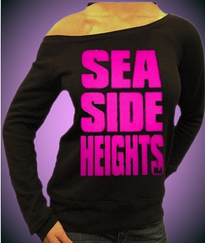 Seaside Heights Neon Pink Off The Shoulder 342