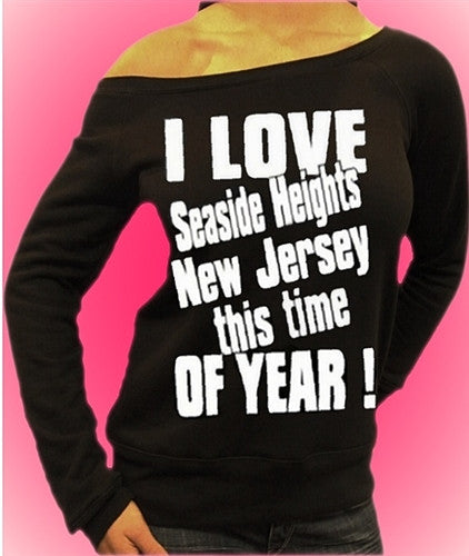 I Love Seaside Heights New Jersey Off The Shoulders 454