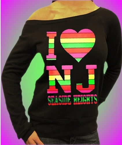 I Heart NJ Neon Off The Shoulders 457