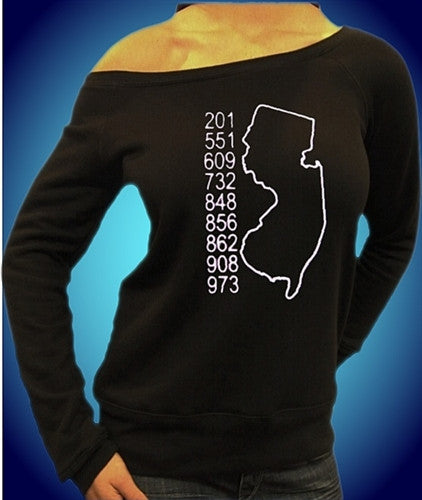 Area Codes Jersey Off The Shoulder 125
