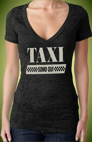Taxi Sono Qui Burnout V-Neck W 413