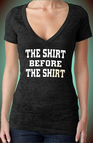 The Shirt Before The Shirt Burnout V-Neck W 90