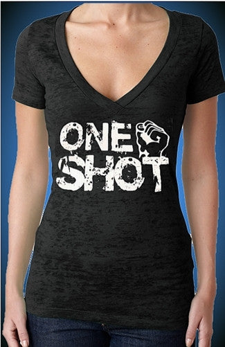 One Shot burnout V-Neck W 71