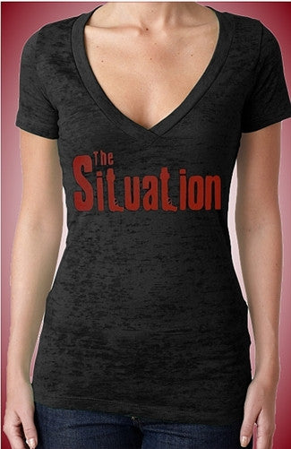 The Situation Burnout V-Neck W 92