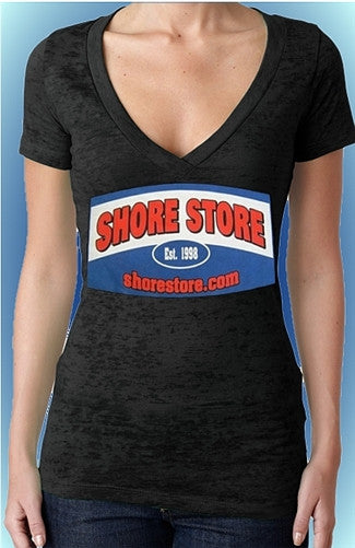 Shore Store Original Sign Burnout V-Neck W 77
