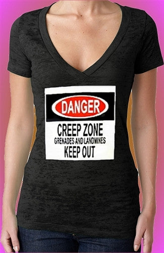 Danger Creep Zone Burnout V-Neck W 7