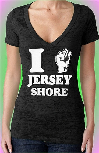I Fist Jersey Shore Burnout V-Neck W 307