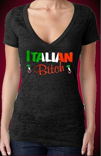 Italian Bitch Burnout V-Neck W 155