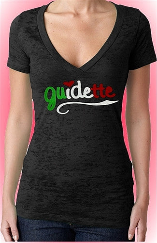 Guidette Italian Colors Burnout V-Neck W 303