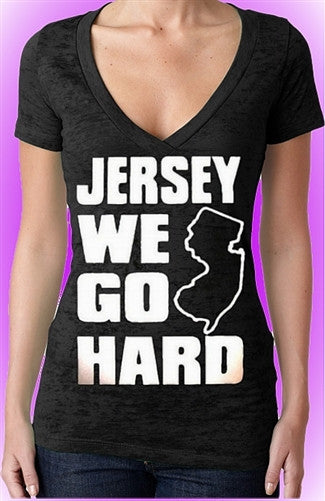 Jersey We Go Hard Burnout V-Neck W 118