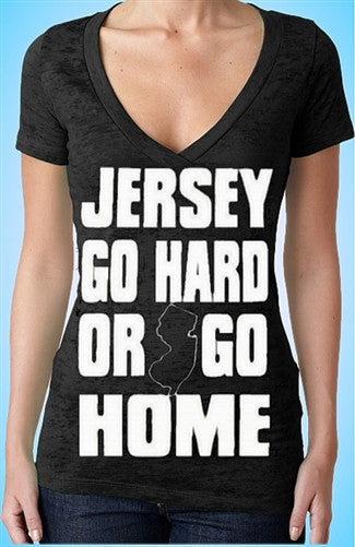 Jersey Go Hard Or Go Home Burnout V-Neck W 116