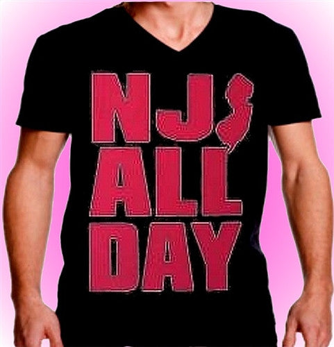 NJ All Day Hot Pink V-Neck 344