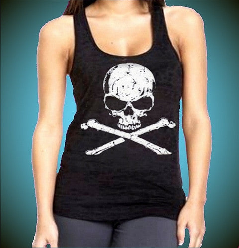 The Skull Burnout Tank Top W 294