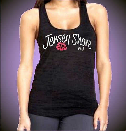Jersey Shore Flower Burnout Tank Top W 475