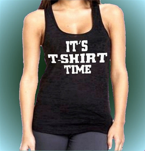 It's T-Shirt Time Burnout Tank Top W 52