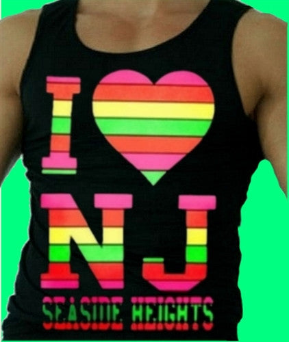 I Heart NJ Neon Tank Top M 457