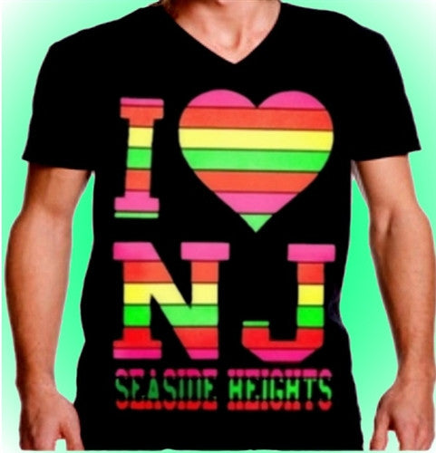 I Heart NJ Neon V-Neck 457