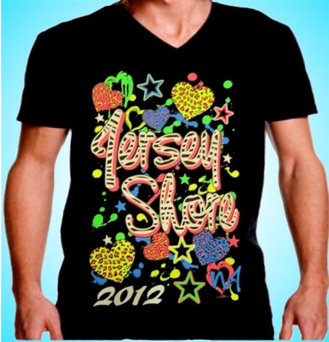 Jersey Shore Hearts And Stars V-Neck 466
