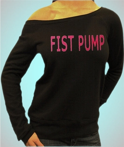 Fist Pump Pink Off The Shoulder B48