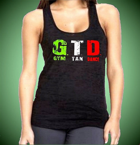GTD Gym Tan Dance Burnout Tank Top W 330