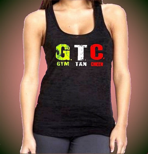 GTC Gym Tan Cheer Burnout Tank Top W 331