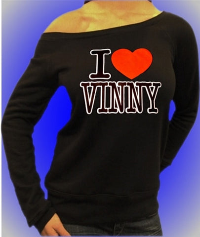 I Heart Vinny Off The Shoulder